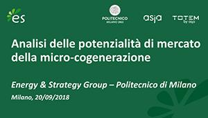Microcogenerazione: Il Pilastro Nascosto Della SEN, Workshop E&S