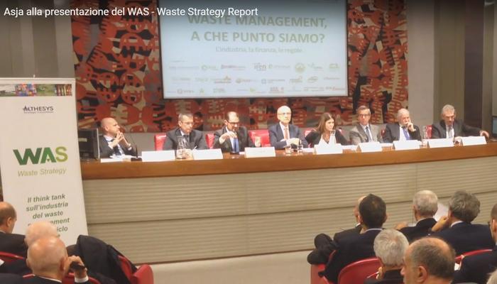 ASJA ALLA PRESENTAZIONE DEL WASTE STRATEGY REPORT 2016