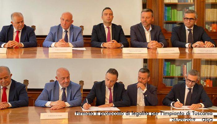 Tuscania: Asja Firma Il Protocollo Legalità
