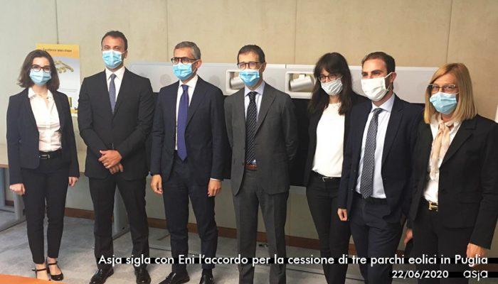 Asja Nella Prima Operazione Nell'eolico In Italia Di Eni